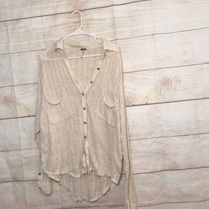 Free people Beach size medium cream button up